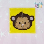 Monkey Toddler 4x4 Hoop Puzzle Embroidery Design
